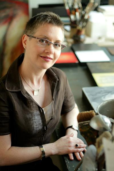 Erica Grimm Vance in studio