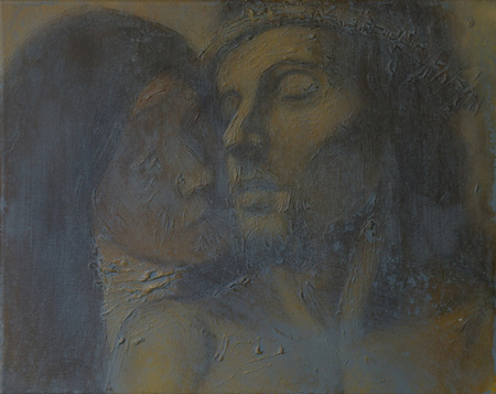 Pieta (2008), oil on canvas, 10' x 15'