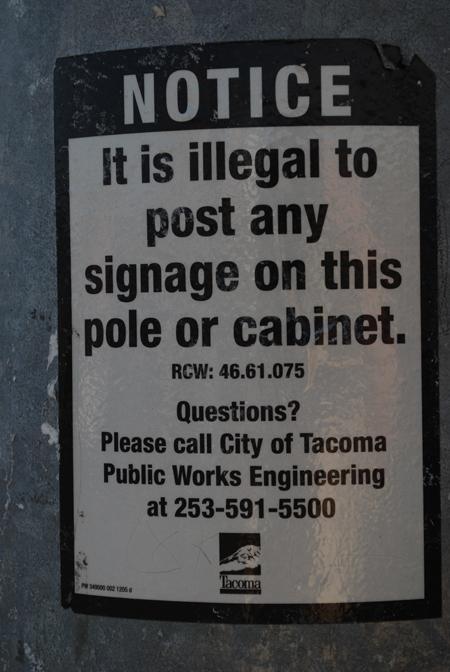 No posting!