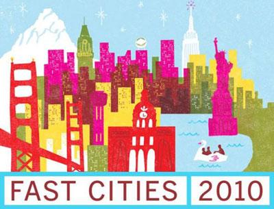 Ten fast cities