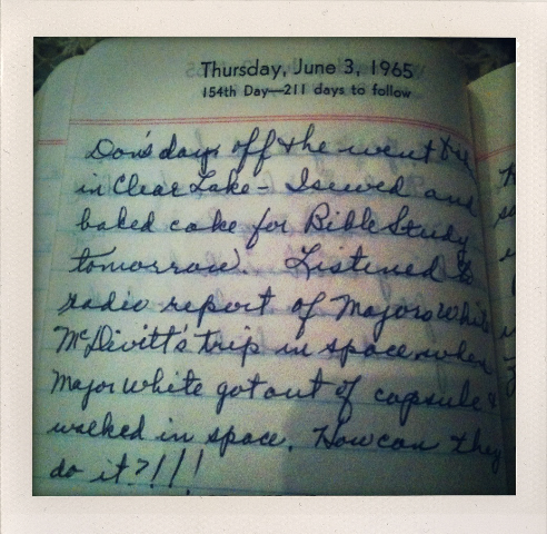 My grandmother's diaries