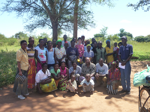 In Zambia with a support group